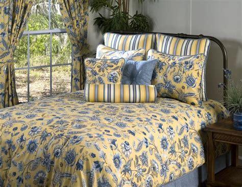 french blue  yellow bedding cherborg blue  yellow