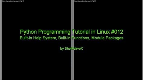 tutorial linux programming python programming tutorial in linux 012 help system