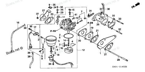 honda generator parts diagram all years es6500k2 a honda generator carburetor 3