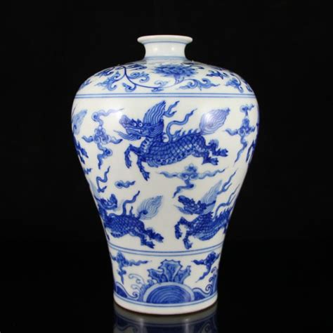 Ming Dynasty Marks On Vases by Ming Dynasty Blue And White Porcelain Vase W Cheng H