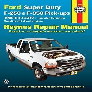ford   super duty excursion pickup haynes repair manual   ebay