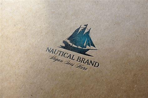 logo design mockup free download nautical brand logo logo templates on creative market