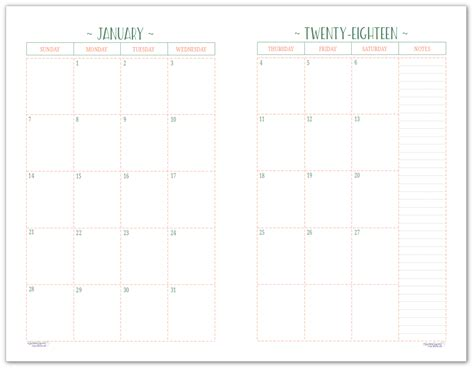printable calendar half page 2018 two page per month 2018 dated calendars are ready