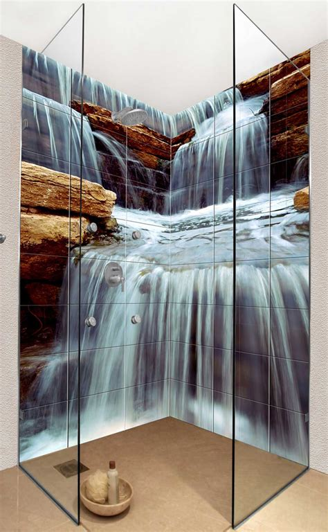 waterfall shower designs photo tiles for kitchens and bathrooms