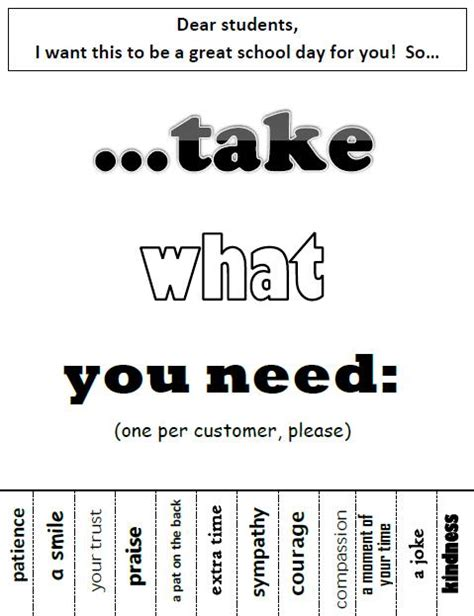 take what you need template more obvious that you need to