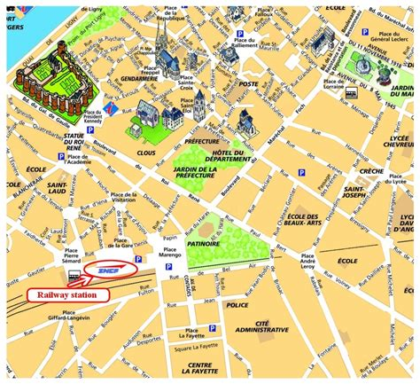 angers map angers sightseeing map