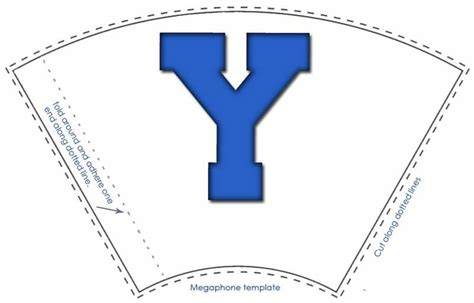 Byu Megaphone Treat Template Byu Is Loved At Www Mormonfavorites Com Weggermont Yl Banquet Free Printable Paper Megaphone Template