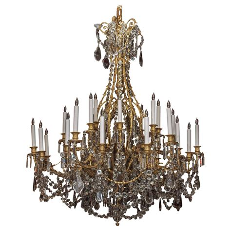 Baccarat Chandelier Prices Antique Napoleon Iii Baccarat And Ormolu Chandelier At 1stdibs