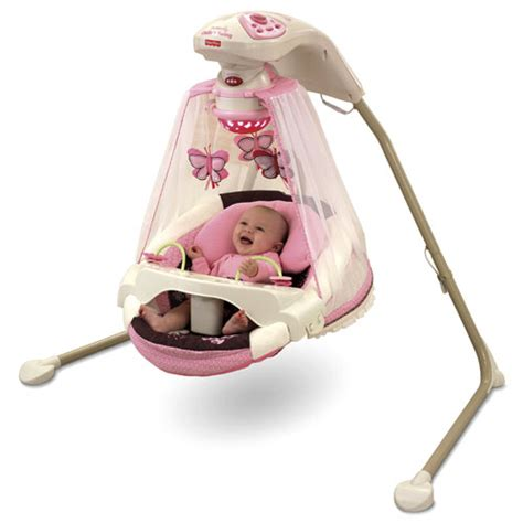 pink baby swing with canopy butterfly cradle n swing mocha butterfly