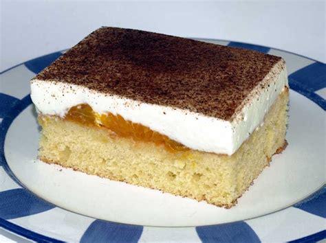 schmand mandarinen kuchen blech fantakuchen rezept tassenrezept vom blech mit schmand