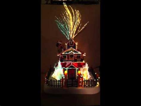 optic house 18 quot fiber optic santa s house youtube