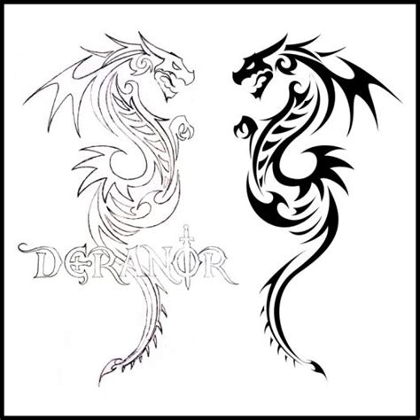 tribal dragon tattoos cool dragon tattoo for men