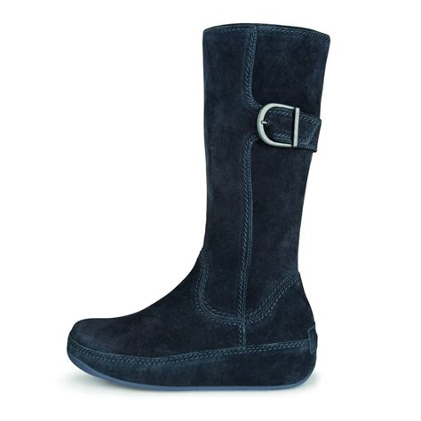 fitflop hooper blue suede boots mozimo