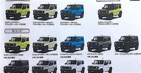 suzuki jimny exterior colour options detailed