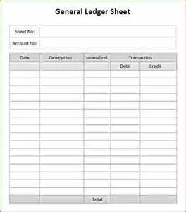 General Ledger Templates by 7 Ledger Template Bookletemplate Org