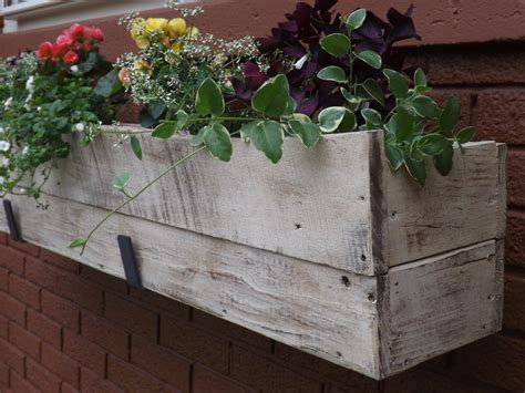 A Window Box Planter by Wood Planter Box Wood Window Box Outdoor Flower Box