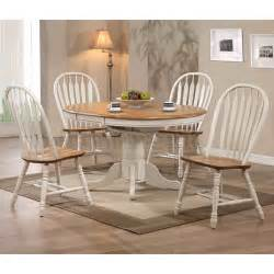 missouri round dining room set antique white rustic oak