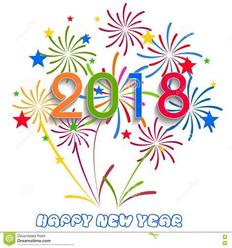 clipart buon anno illustrazione di vettore dei fuochi d artificio variopinti