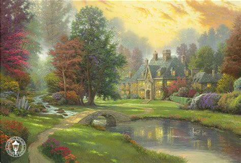 who is the painter of light kinkade signed and numbered limited edition
