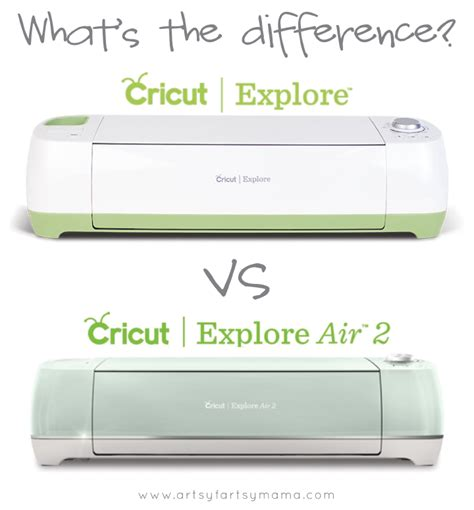 Cricut Explore Air 2 Machine cricut explore vs cricut explore air 2 comparison artsy