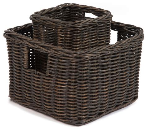 square baskets for shelves low square wicker shelf basket baskets by the basket