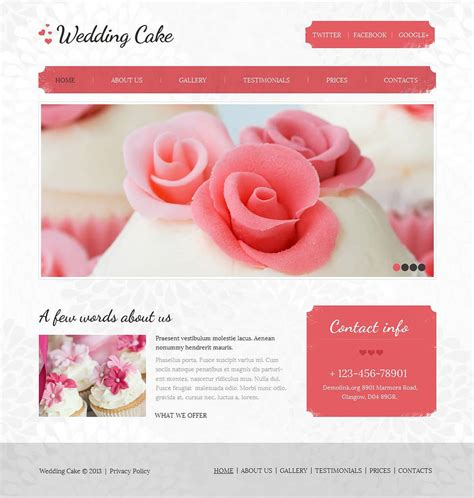 Wedding Cms by Wedding Cake Moto Cms Html Template Web Design Templates