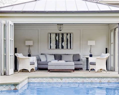 cabana style bedroom serene and elegant this pool house would look right at