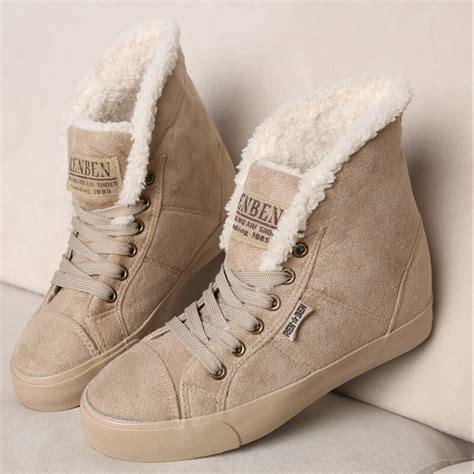 2015 winter snow boots plush fur liner high top