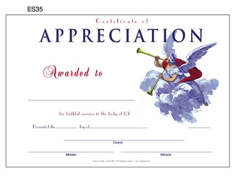 10 best images of church certificate of appreciation