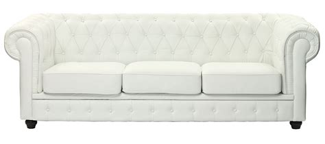 Chesterfield White Leather Sofa Chesterfield White Bonded Leather Sofa Eei 701 Whi Indoor Furniture