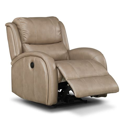 power recliner chairs leather american signature furniture corsica leather power recliner