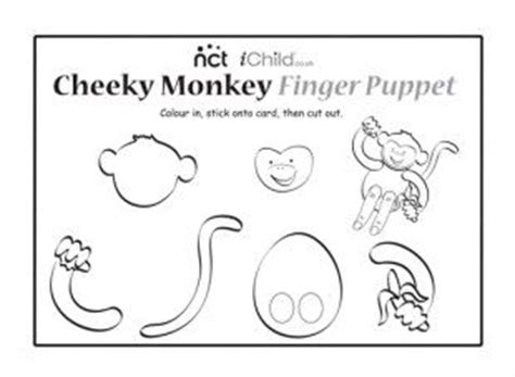 card finger puppet template 17 best images about five monkeys on