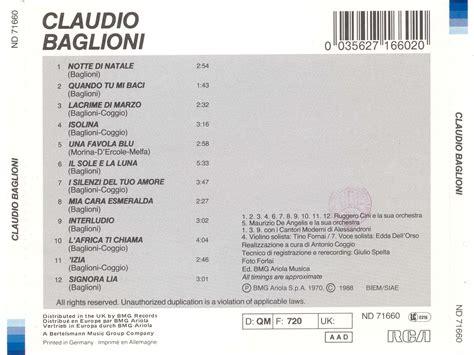 baglioni testo album claudio baglioni claudio baglioni