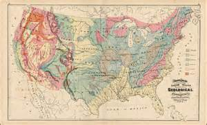geologic map of the united states gray s map of the united states showing the principal