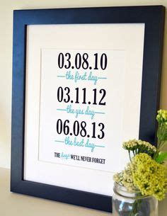 Valentine's Day Gift  Important Dates  Wedding Gift for