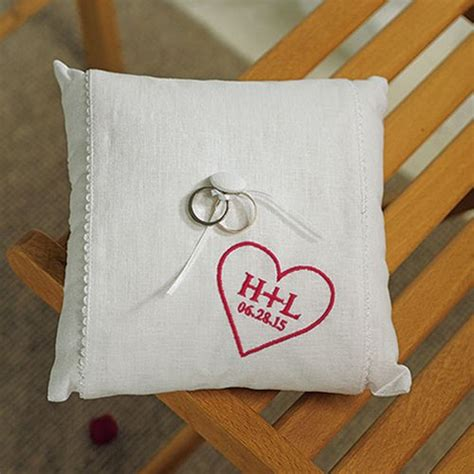 Personalized Ring Bearer Pillows by Personalized Initials In Ring Bearer Pillow