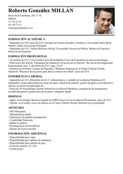 Modelo De Curriculum Vitae No Documentado 2014 Modelos De Curriculum Vitae No Documentado Peru