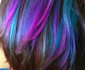 mermaid hair color could be to chalk these colors into hair for a mermaid