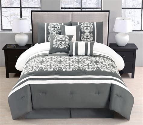 queen bed in a bag sets bed in a bag queen sets 11 piece abarrane charcoal white bed in a bag set