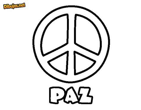 Imagenes Para Dibujar Sobre La Paz | dibujo de c 237 rculo de la paz para colorear dibujos net