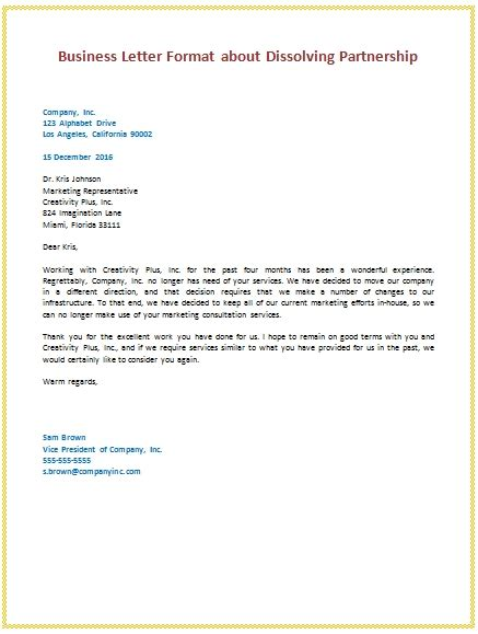 layout of the business letter layout of business letter with an exle letters free