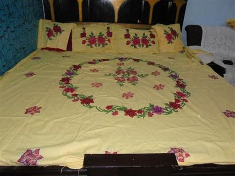 Handmade Bedsheets - painting bed sheet in new area bhopal manufacturer