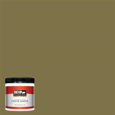 behr premium plus ultra 8 oz home decorators collection aged olive interior exterior paint