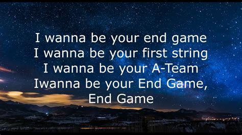 End Game Lyrics Karaoke | taylor swift end game ft ed sheeran future lyrics and