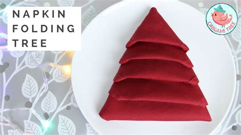 napkin folding christmas tree tutorial 187 origamitree com