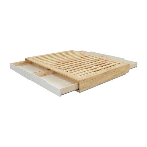 queen storage bed frame 35 off ikea birch wood queen bed frame with storage beds