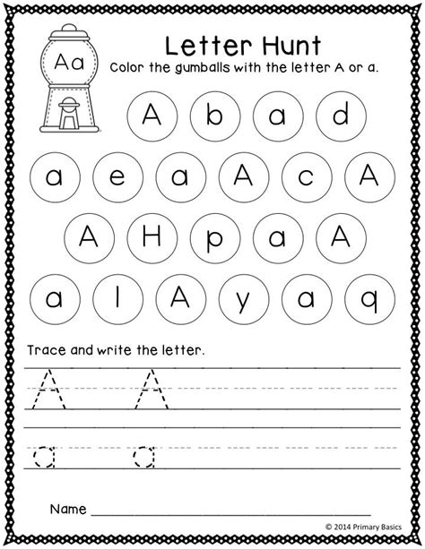 Letter of the Day | Grade K | Preschool writing, Alphabet