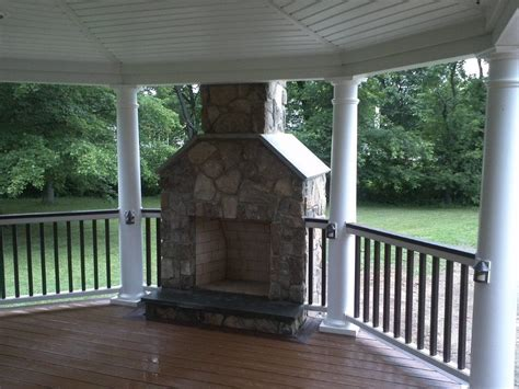deck with fireplace design ideas pictures