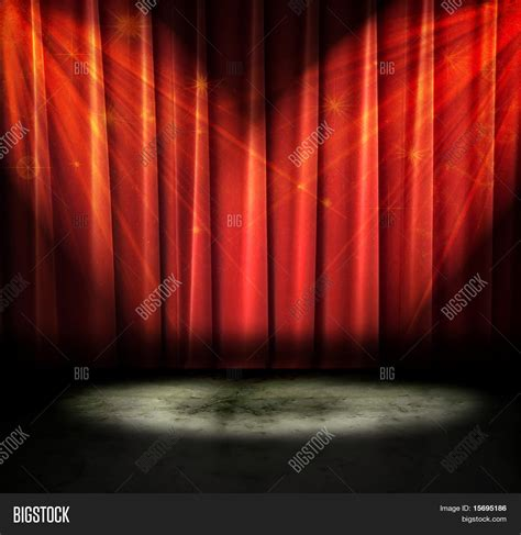sparkly lights curtains on a stage with sparkly lights stock photo