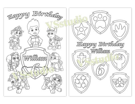 1000 Images About Paw Patrol Ideas On Pinterest Personalized Happy Birthday Coloring Pages